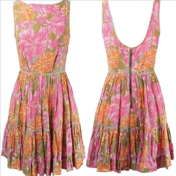 Tracy Feith Dresses & Skirts - TRACY FEITH Retro Ruffle Boho Dress 100% Cotton